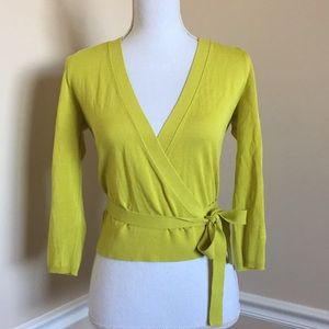 Sexy Chartreuse Wrap Top